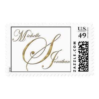Custom postage for Michelle & Jonathan