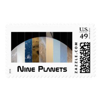 Custom Postage: Nine Planets Postage