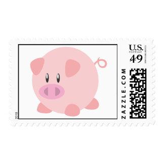 Custom Postage Stamps | Cute Pink Pig Piglet Pork