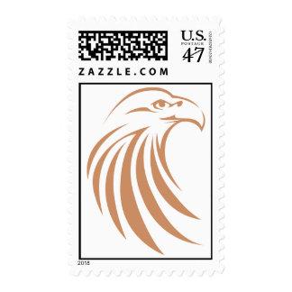Custom Postage Stamps | Golden Eagle Swish Logo