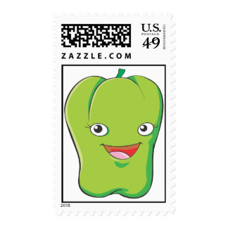 Custom Postage Stamps - Green Bell Pepper