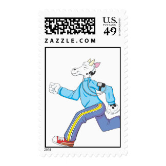 Custom Postage Stamps | Jogging Cow