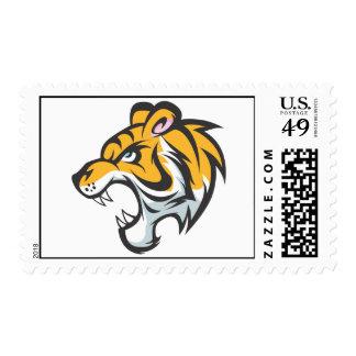 Custom Postage Stamps   Orange Roaring Tiger