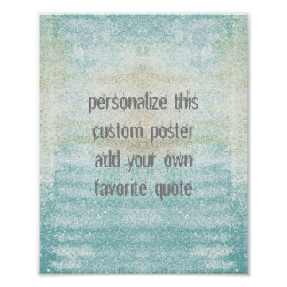 custom poster add your own quote shabby chic style