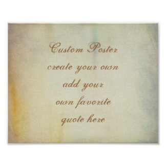 custom poster add your own quote vintage style