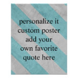 custom poster add your quote shabby chic stripes