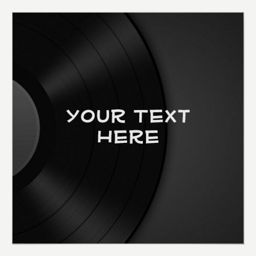 Custom POSTER with Vinyl Design Background