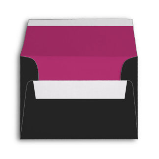 Custom Pre-Addressed Black & Fuchsia Pink Envelope