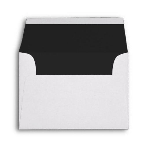 Custom Pre-Addressed Black Wedding Envelope Envelopes