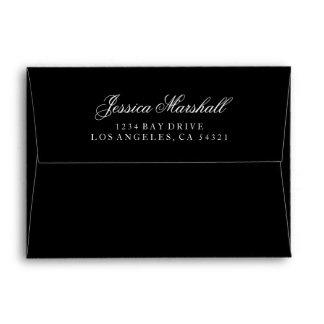Custom Pre-Addressed Envelope - (5x7 - A7) Black