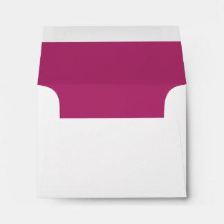Custom Pre-Addressed Fuchsia and White Envelope Envelope