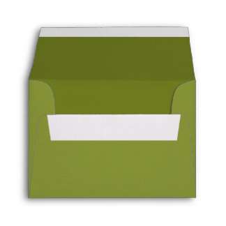 Custom Pre-Addressed Sage or Olive Green Envelope