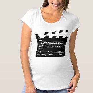 Custom pregnancy announcement maternity T-Shirt