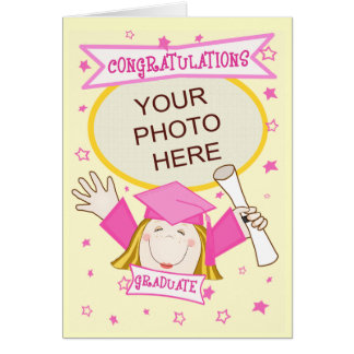 Custom Preschool / Kindergarten Girl Graduation Card