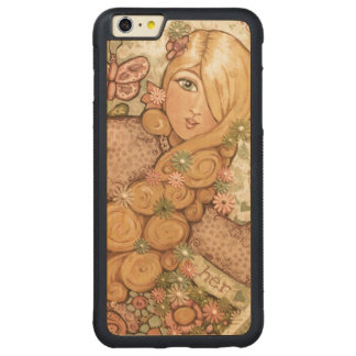 Custom Pretty Blonde Lady iPhone Wood Case Carved® Maple iPhone 6 Plus Bumper Case