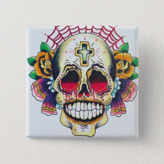 custom pretty death skull button
