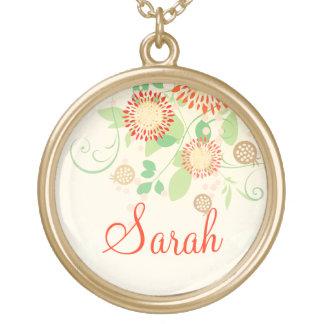 Custom Pretty Floral Modern Necklace