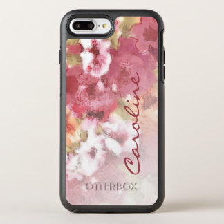 Custom Pretty Flowers Pattern Watercolor Painting OtterBox Symmetry iPhone 8 Plus/7 Plus Case