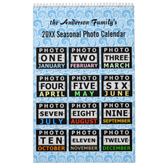 Custom Pretty Seasonal Family Photo Personal 2017 Calendar
