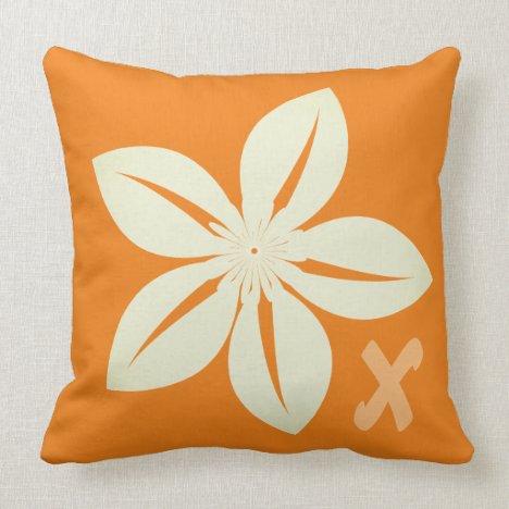 Custom Pretty Vintage Flower Throw Pillow