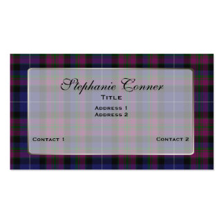 Custom Pride of Scotland Colorful Plaid Double-Sided Standard Business Cards (Pack Of 100)