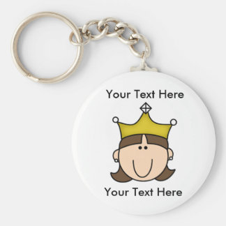 Custom Princess Brown Keychain