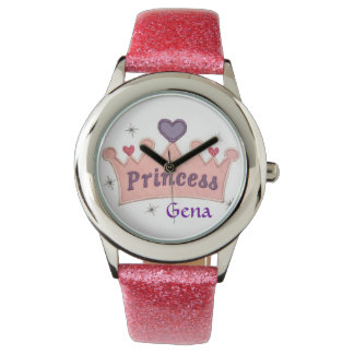 Custom Princess Glitter Watch Template
