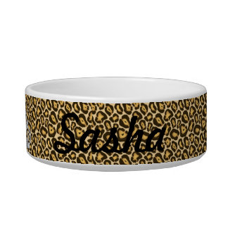 Custom Princess Jaguar Print Food Dish