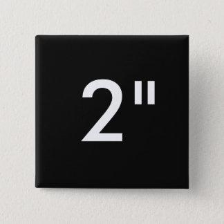 "Custom Print 2"" Square Button Blank Template BLACK"