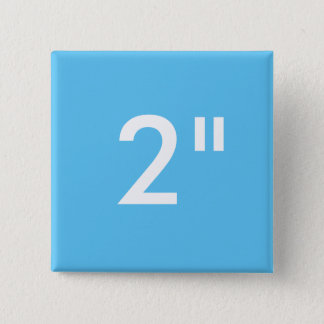 "Custom Print 2"" Square Button Blank Template BLUE"