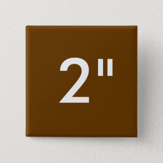 """Custom Print 2"""" Square Button Blank Template BROWN"""