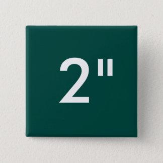 "Custom Print 2"" Square Button Blank Template GREEN"