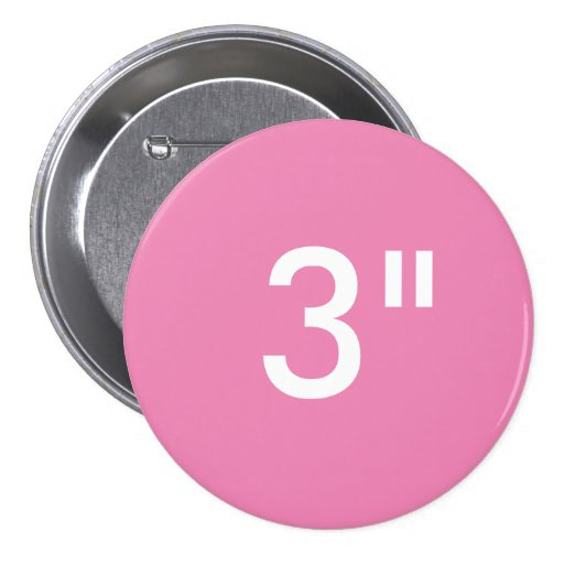 custom print 3 large round button blank template zazzle. Black Bedroom Furniture Sets. Home Design Ideas