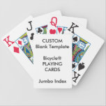 """Custom Print Bicycle&#174; JUMBO INDEX Playing Cards<br><div class=""""desc"""">Design Your Own Zazzle Custom Print Blank Template Bicycle&#174; JUMBO INDEX Playing Cards.</div>"""