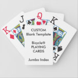 "Custom Print Bicycle&#174; JUMBO INDEX Playing Cards<br><div class=""desc"">Design Your Own Zazzle Custom Print Blank Template Bicycle&#174; JUMBO INDEX Playing Cards.</div>"