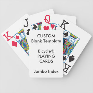 Custom Print Bicycle® Jumbo Index Playing Cards at Zazzle
