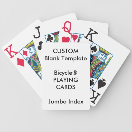 Custom Print Bicycle JUMBO INDEX Playing Cards