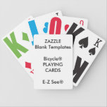 "Custom Print Bicycle&#174; Large Print Playing Cards<br><div class=""desc"">Custom Print Blank Template Bicycle&#174; E-Z See&#174; LoVision&#174; Large Print Playing Cards.</div>"