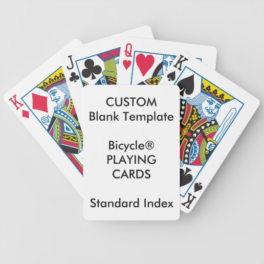 Printing On Index Cards: Custom Print Bicycle® STANDARD INDEX Playing Cards