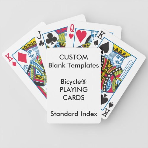 Custom Print Bicycle STANDARD INDEX Playing Cards