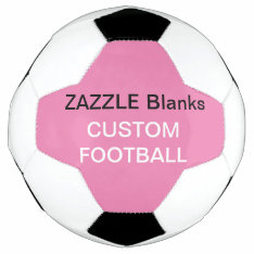 Custom Print Football Blank Template Baby Pink Soccer Ball at Zazzle