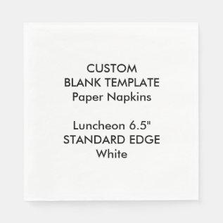 Custom Print Plain Edge Luncheon Paper Napkins at Zazzle