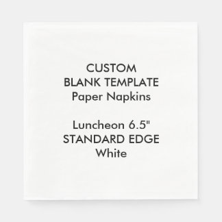 Custom Print Plain Edge Luncheon Paper Napkins