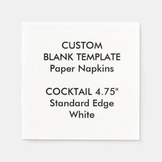 Custom Print Small White Cocktail Paper Napkins at Zazzle