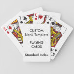 "Custom Print STANDARD INDEX Playing Cards Blank<br><div class=""desc"">Design Your Own Zazzle Custom Print Blank Template Playing Cards STANDARD INDEX.</div>"