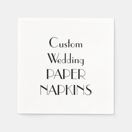 Personalized custom paper napkins