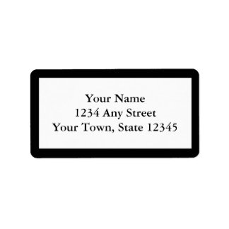 Custom Printed Address Labels - Black