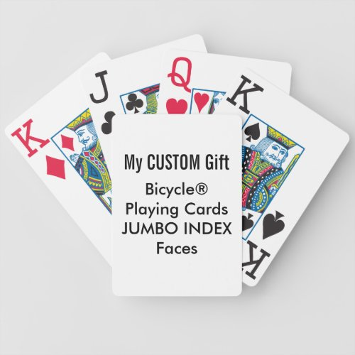 Custom Printed Bicycle Playing Cards JUMBO INDEX