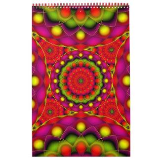 Custom Printed Calendar 2014 Mandala Psychedelic