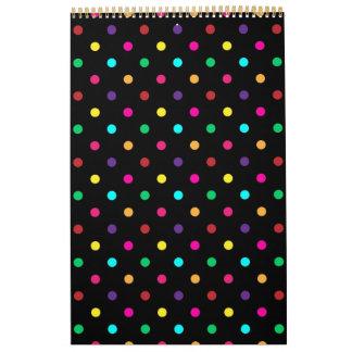 Custom Printed Calendar 2014 Polka Dot